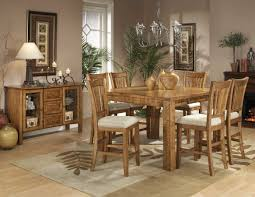 Casual Dining Room Lighting by Light Oak Finish Counter Height Casual Dinette Table W Options