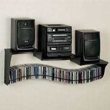 Bookshelf Cd Stereo System Wall Mount Stereo Shelf And Cd Holder Perfect Idea With So