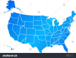 Image Of United States Map Vector Clip Art Map United States Stock Vector 18457591 Shutterstock