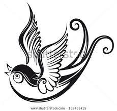 Barn Swallow Tattoo Designs Angel Wings Lettering Feathers Stock Vector 151678088 Shutterstock