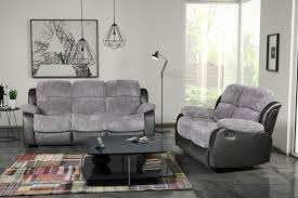 furniture grey recliner with glass windows and grey carpet design