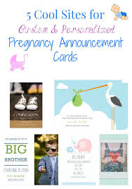 announcement cards 5 cool for custom personalized pregnancy announcement