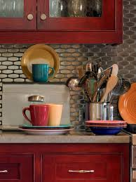 stainless steel kitchen backsplash ideas pictures of kitchen backsplash ideas from hgtv small cabinets with