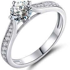 walmart white gold engagement rings cz 18kt white gold bridal engagement ring walmart
