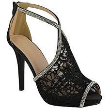 wedding shoes toe womens wedding shoes high heels lace diamante bridal peep