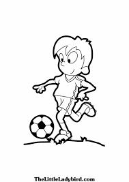 drawing of a boy is playing football drawing image playing