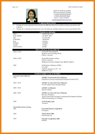 Example Of Finance Resume by Example Good Resume In Malaysia Templates