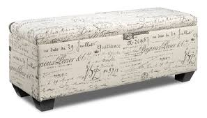 boardwalk large storage ottoman scroll white leon u0027s