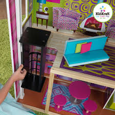 How To Make Modern Dollhouse Furniture Idea Kidkraft Wooden Modern Dream Glitter Dollhouse Wooden