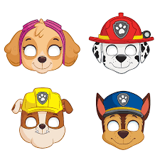 amazon com paw patrol party masks assorted 8ct toys u0026 games