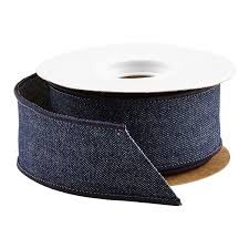 wired ribbon denim wired ribbon the container store