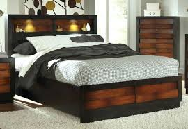 queen headboard with storage and lights homely ideas queen shelf headboard bed with drawers king size