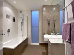 Deco Bathroom Design With Claw Foot Bath Using Frameless Glass - Glass bathroom designs