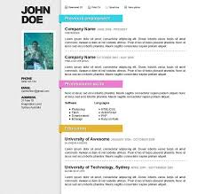 best template for resume the best free premium cv resume website template evohosting