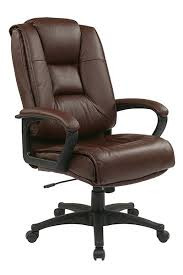 High Back Leather Armchair Deluxe High Back Executive Leather Chair With Padded Loop Arms