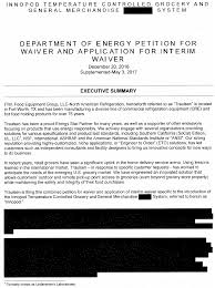 federal register notice of petition for waiver of itw food