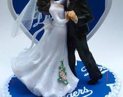 kif wedding band dodgers cake topper etsy
