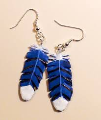 mr t feather earrings practice blue feather earrings by resonance21 on