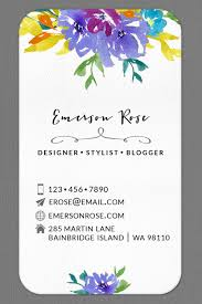 Personalized Business Cards Personalized Business Calling Card Watercolor Flower Set Of 40