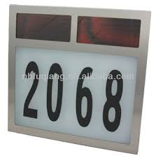 Solar Powered Address Light - fq 526 big size stainless steel solar house number light available