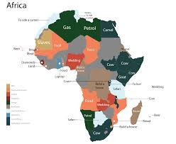 Map Of Countries In Africa by The Most Googled Product In Every Country