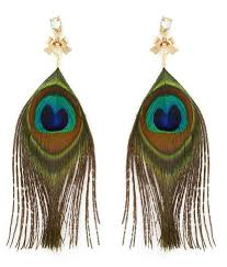 peacock feather earrings pari peacock feather earrings buy pari peacock feather earrings