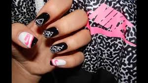 nail art tutorial nike logo nailart youtube