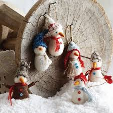 felted wool ornaments for rainforest islands ferry