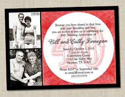 40th anniversary invitations templates free wedding invitation
