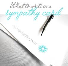 what to write in a sympathy card rlpco