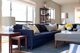 navy sofa living room cozy family home traditional living room san francisco by