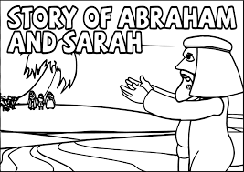 story abraham and sarah coloring page wecoloringpage