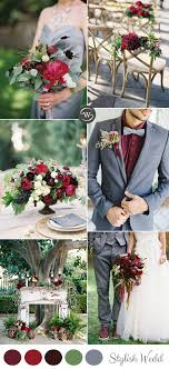 wedding colors wedding trends 10 fantastic burgundy color combos for 2017 wedding