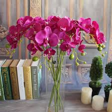 Wedding Decor Resale Artifical Moth Butterfly Orchid Flower Phalaenopsis Display Fake
