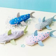 Dstockage Papeterie Creative Requin Toile Grande Capacité Crayon Cas De Stockage De