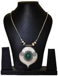 pendant necklace online images Seher oxidised black metal pendant necklace metal necklace price jpeg