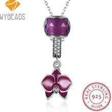 sted necklaces buy pendant cz purple necklaces and get free shipping on