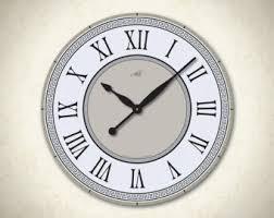 Decorative Metal Wall Clocks Large Wall Clock Etsy
