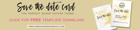 Free Save The Date Cards The Perfect Blend Save The Date Card Free Wedding Invitation