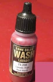 Vallejo Game Color Wash - vallejo 73 206 game color red wash 17ml bottle acrylic shading
