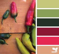 red green color combination peppered hues pepper design seeds and design color