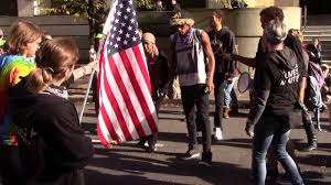 Illegal To Burn American Flag Blacklivesmatter Confronted After They Take