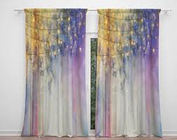 Boho Window Curtains Boho Curtain Etsy