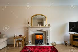 fireplace in living room modern living room with log burner