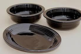 homer laughlin vintage newer or vintage black ware homer laughlin pottery serving