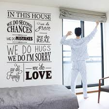 rules of home design art new design house rules character wall sticker english version