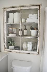 26 great bathroom storage ideas 20 ways to repurpose windows upcycled window projects