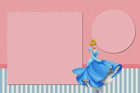 free printable invitations cinderella in pink and light blue free printable invitations