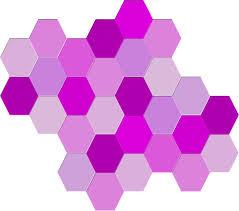 Hues Of Purple Free Illustration Geometric Hexagons Purple Shades Free