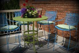 modern concept painted patio furniture with spray painted brightly
